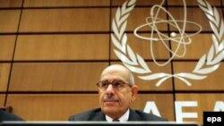در گزارش محمد البرادعی درباره برنامه اتمی ایران موضوعاتی چون «پروژه نمک سبز، آزمایش مواد انفجاری قوی، محفظه کلاهک موشک» همچنان به عنوان موارد ابهام باقی مانده است.( عکس: EPA)