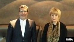 حسین جابری انصاری معاون وزیر خارجه ایران و هلگا اشمید، ون هماهنگکننده سیاست خارجی اتحادیه اروپا