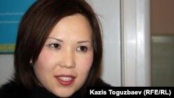 Алия Турусбекова, жена Владимира Козлова. Алматы, 29 ноября 2012 года.