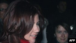 Anna Chapman at the wave-off ceremony
