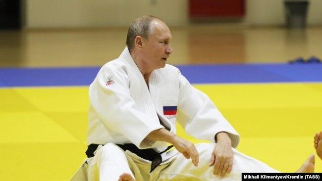 Володимир Путін під час тренування зі збірною Росії зі дзюдо. 14 лютого 2019 року