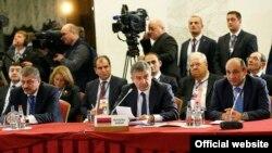 Կարեն Կարապետյանը ելույթ է ունենում ԵՏՄ միջկառավարական խորհրդի նիստում: Մինսկ, 27-ը հոկտեմբերի, 2016 թ․