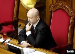 Виконувач обов'язків президента України, голова Верховної Ради Олександр Турчинов. 11 березня 2014 року