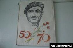 Cынчы-рәссам Зилфәт Басыйров автопортреты
