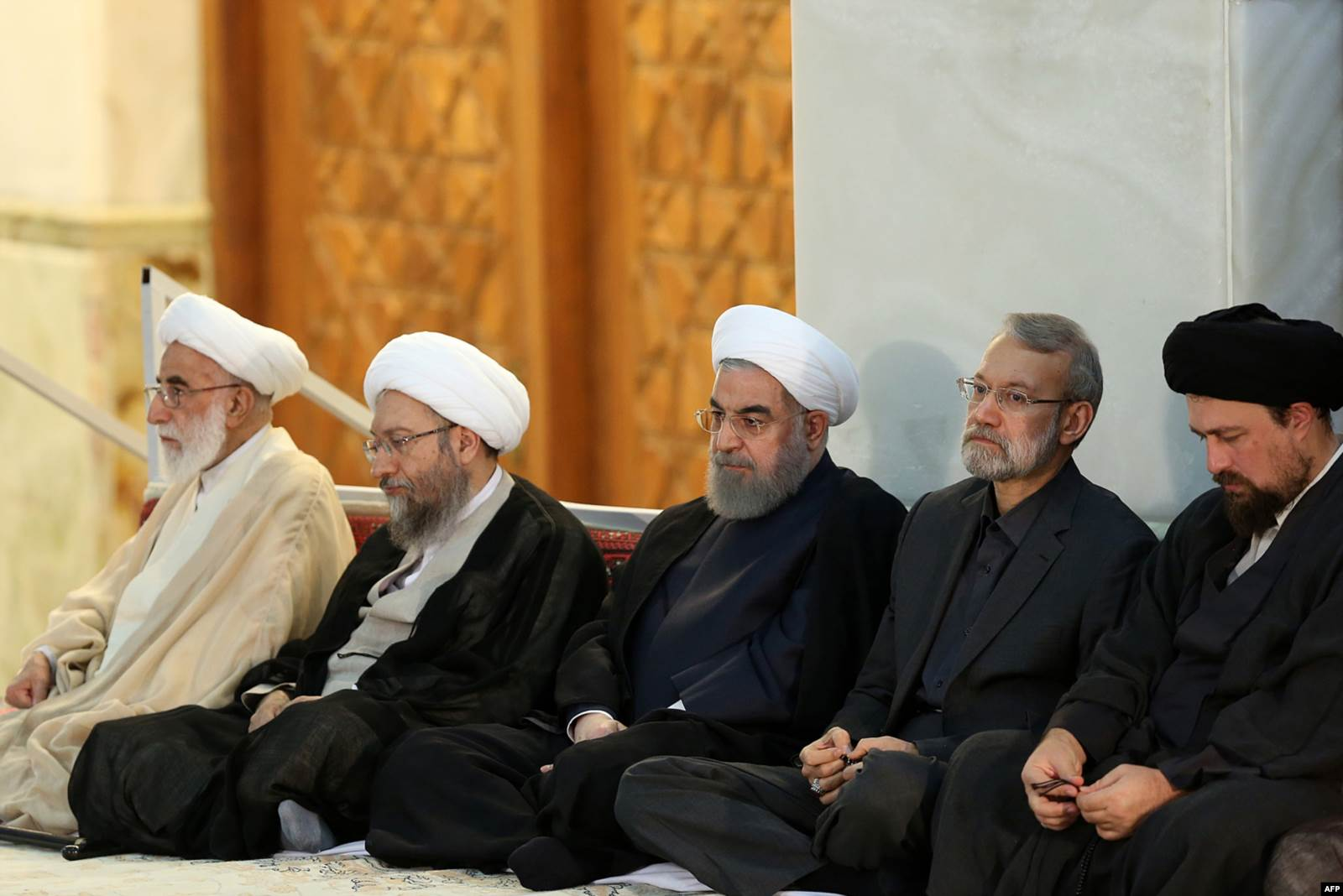 1st from left-Iran's head of the Assembly of Experts, Ahmad Jannati June 4 2017(AFP)