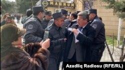 Бакудагы оппозициянын митинги. 11-февраль, 2020-жыл.