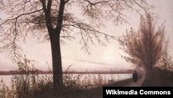 Крыстэн Кёбкэ, «Асеньняя раніца над возерам Сортэдам» (1838)