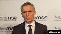 Генсек НАТО Єнс Столтенберг під час Мюнхенської конференції з безпеки, 17 лютого 2018 року