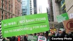 راهپیمایی علیه حمله به ایران- نیویورک، ۱۵ بهمنماه