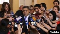 Armenia - Artur Vanetsian, director of the National Security Service (NSS), speaks to journalists in Yerevan, 18 June 2018.