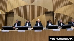 """Первое заседания суда по делу о сбитом """"Боинге"""", Нидерланды, 9 марта 2020"""