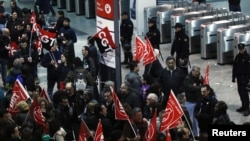 Демонстарниы в Мадриде, 29 марта 2012