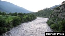Russia -- The Samur river in Daghestan, undated.