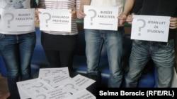 Protest studenata Arhitektonskog fakulteta, foto: Selma Boračić