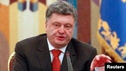 Петр Порошенко выступает на заседании Совета национальной безопасности Украины 4 ноября 2014 года