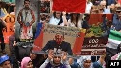 Jedan od mnogih protesta protiv ruske oružane intervencije u Siriji, Sidnej, decembra 2015.