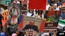 Акція протесту проти військових дій Путіна у Сирії. Австралія, Сідней, 11 жовтня 2015 року
