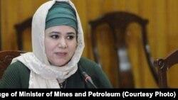 نرگس نهان نامزد وزارت معادن و پترولیم افغانستان