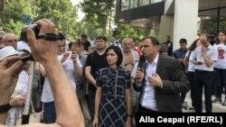Maia Sandu alături de Andrei Năstase la protestele de la Chișinău