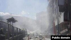 У соцмережах пишуть, що це фото з місця вибуху
