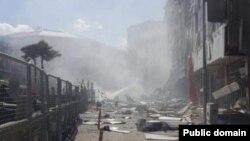 Наслідки вибуху в місті Ван, Туреччина, 12 вересня 2016 року