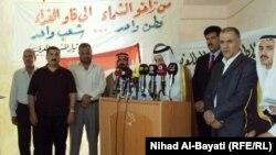 ممثلون عن عرب كركوك في مؤتمر صحفي