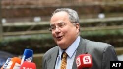 Noul ministru de externe al Greciei, Nikos Kotzias, la sosirea astaăzi la Bruxelles