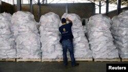 Гуманитарные грузы на колумбийско-венесуэльской границе