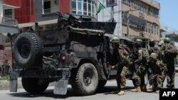 Авганистански безбедносни сили по нападот.