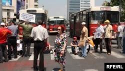 Архивска фотографија: Протест на стечајците пред Собрание во 2010 година.