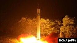 Запуск міжкантынэнтальнай ракеты Паўночнай Карэяй