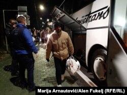 Migranti po dolasku u Ušivak