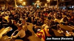 Kataloniyanın müstəqilliyi tərəfdarlarının oktyabrın 20-də keçirilmiş aksiyasında