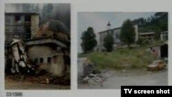 Snimke uništenih vjerskih objekata prikazane u sudnici, 16. listopad 2013.