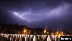 Меморіал жертвам різанини в Сребрениці, 10 липня 2012