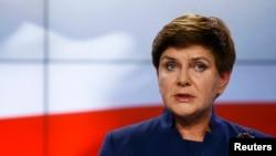 Kryeministrja e Polonisë, Beata Szydlo.