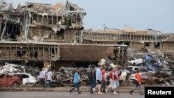 ԱՄՆ - Պտտահողմի հետեւանքները Օկլահոմայի Մուր բնակավայրում, 20-ը մայիսի, 2013թ.