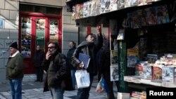 Грција.Киоск со весници
