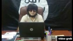 Suriyada İslam Dövləti yaraqlılarının tərkibində vuruşan tacik yaraqlı Abu Daoud