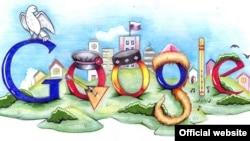 Google компаниясын бейнелейтін сурет. Көрнекі фото.