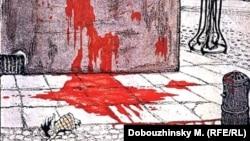"""""""Октябрьская идиллия"""", Мстислав Добужинский. Рисунок для журнала «Жупел», 1905"""