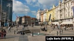 Povremene uvrede iz Hrvatske: Trg bana Jelačića u Zagrebu