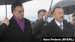 Filip Vujanović i Ilham Aliyev u Podgorici 12. marta 2013.