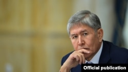 Kyrgyzstan -- Almazbek Atambaev, president, 29 January 2016