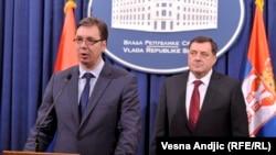 Aleksandar Vučić i Milorad Dodik, Beograd: 20.1.2014