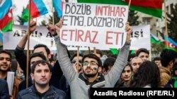 Milli Şuranın «Talana son» mitinqi fotolarda