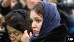 Жанна Немцова на похоронах свого батька Бориса Немцова 3 березня 2015 року