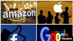 Amazon, Apple, Facebook və Google şirkətlərinin loqoları