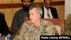 Army General John Nicholson is expected to step down soon as U.S. commander in Afghanistan. (file photo)