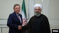 زیگفرید براک، رییس مجلس نمایندگان بلژیک، با حسن روحانی دیدار کرد.